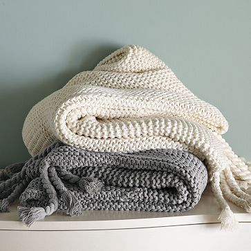 West Elm Throw Blanket Inspiration Chunky Tassel Throw From West Elm  Hand  Made  Pinterest  White Design Inspiration