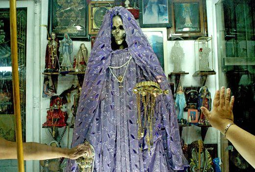 Shrine in Tepito, Mexico City | Muerte | Santa muerte, New