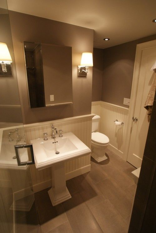 Like The Darker Color With White Paint But Still Neutrallighter Enchanting Houzz Small Bathrooms Decorating Inspiration
