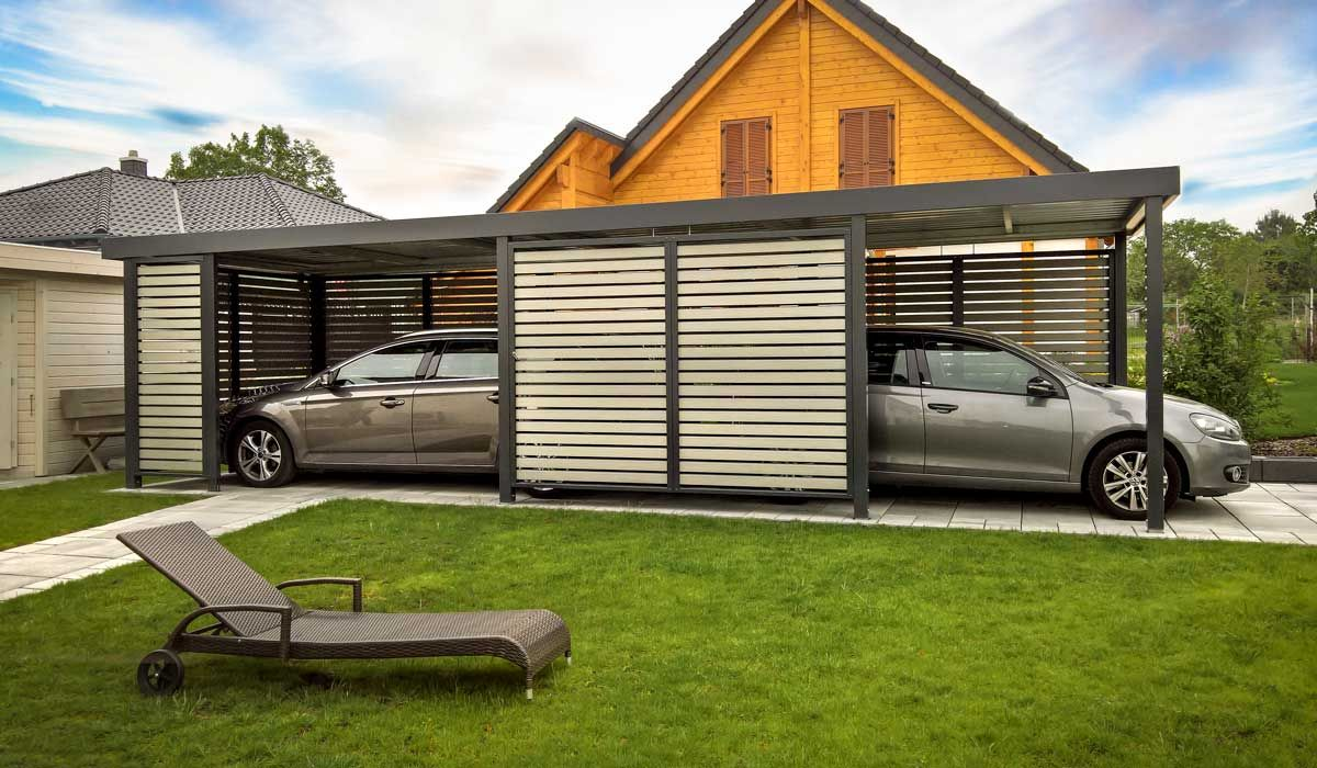 Doppelcarport Fur 2 Autos Hintereinander Carport Carports Carport Modern