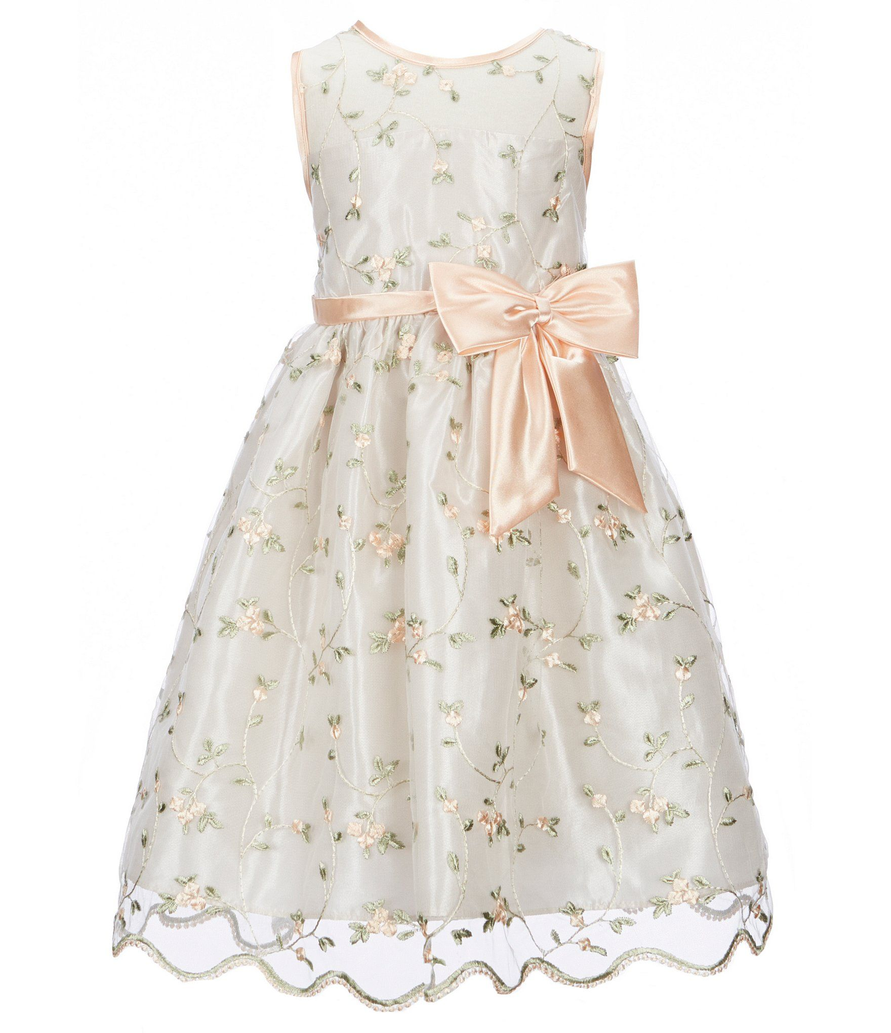 703fe09bb0a Jayne Copeland Little Girls 2T6X FloralEmbroidered FitAndFlare Dress   Dillards