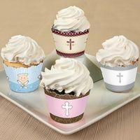 Baptism Cupcake Decorations. Baptism Favors
