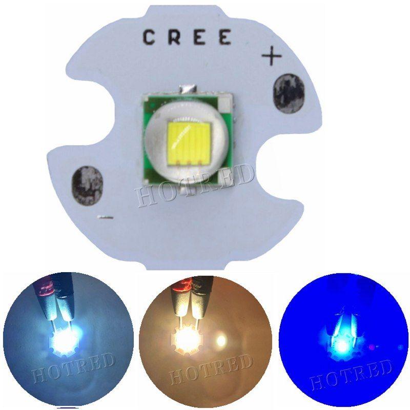 1pcs Cree Xml Xm L T6 Led U2 10w Cold White Warm White Blue Uv High Power Led Emitter Diode With 14mm 16mm 20mm 25mm Pcb For Diy Power Led Cree Diy
