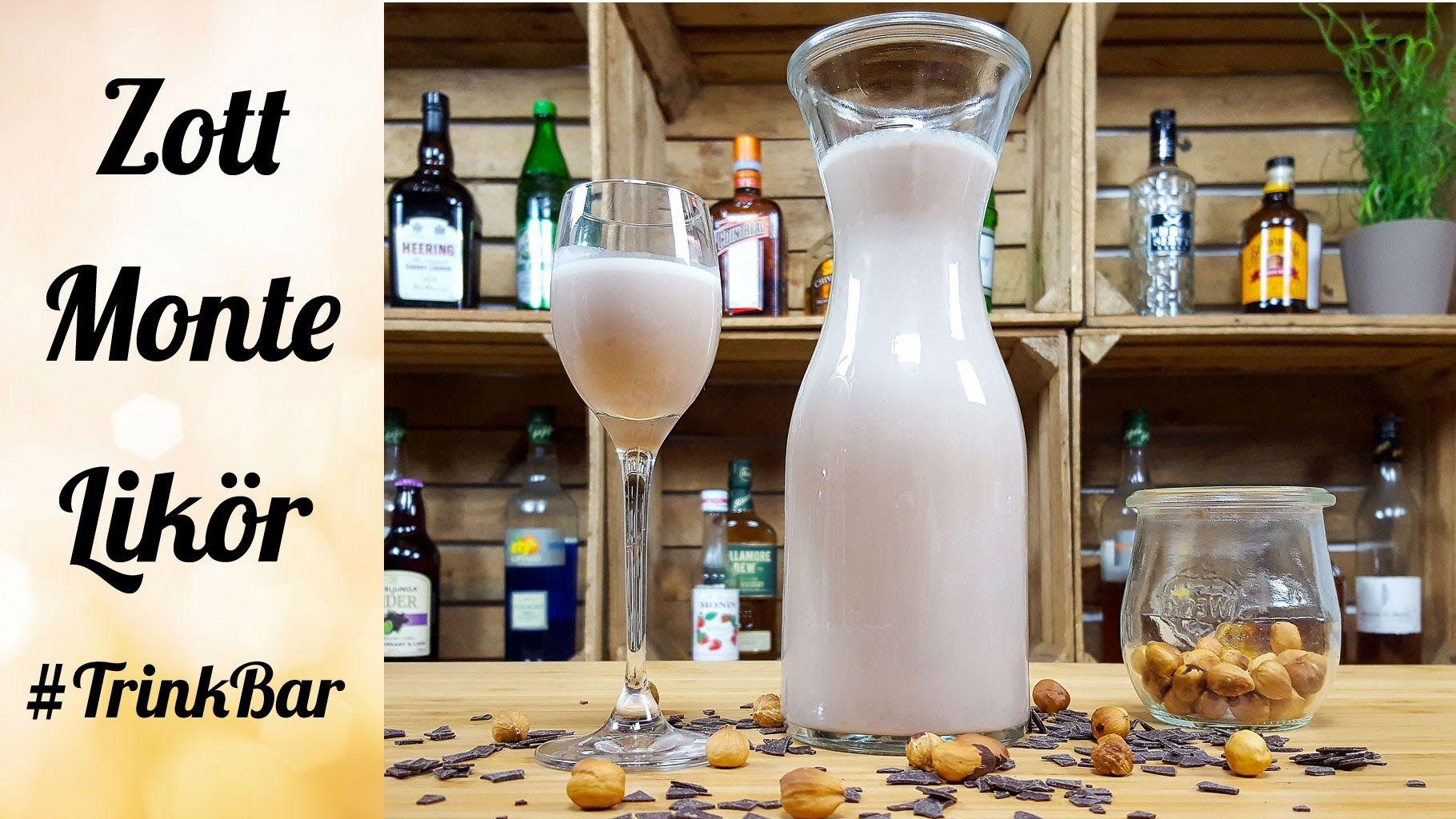 zott monte lik r selber machen cocktail rezept trinkbar cocktails und drinks auf youtube. Black Bedroom Furniture Sets. Home Design Ideas