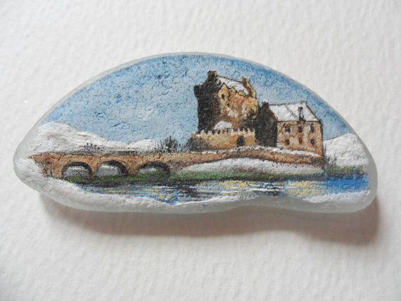 Eilean Donan Castle in the snow  original by Alienstoatdesigns, $29.00