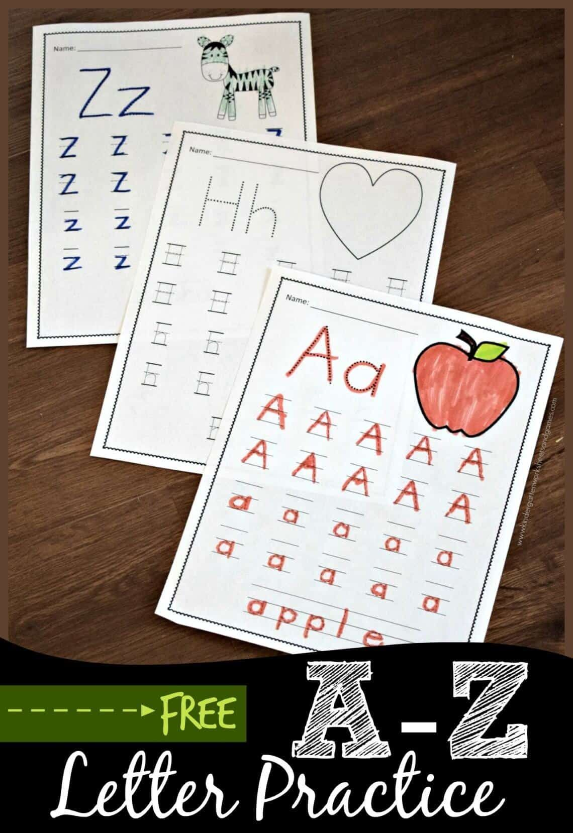 Free A To Z Letter Practice