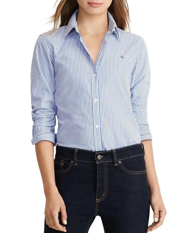 6bdcd12c7545f Lauren Ralph Lauren Pinstriped No-Iron Shirt