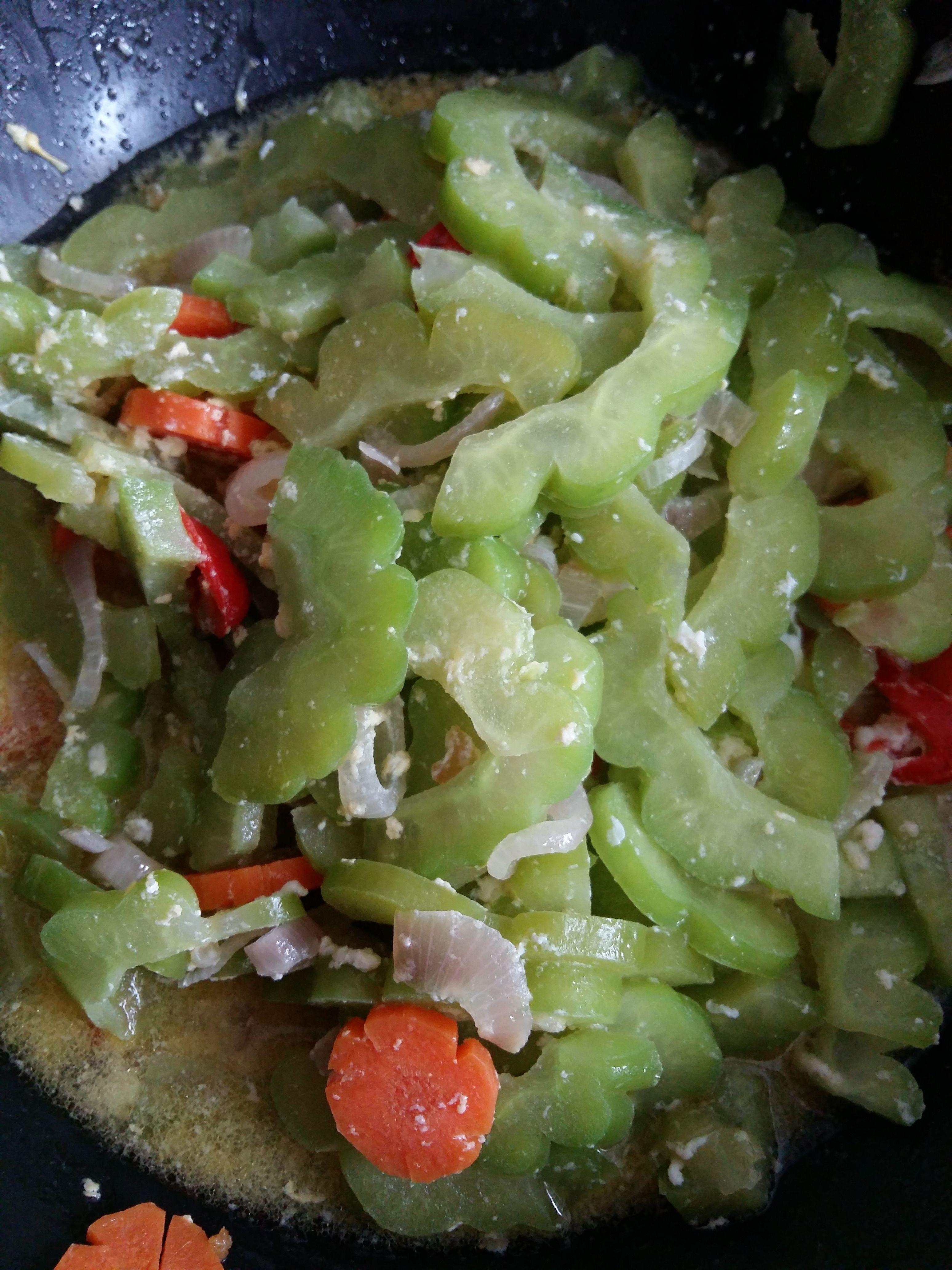 Peria Goreng Cooking Food Vegetables