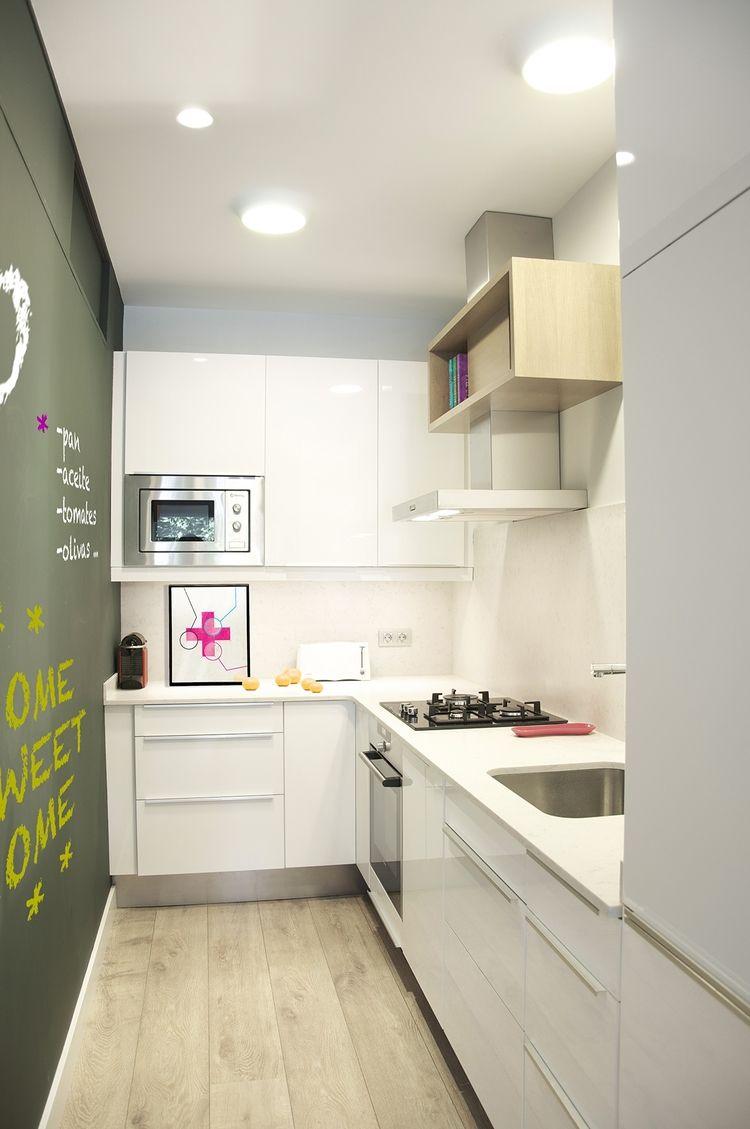Cocina Peque A Kitchen Design Pinterest Cocina Peque A  ~ Soluciones Para Cocinas Muy Pequeñas