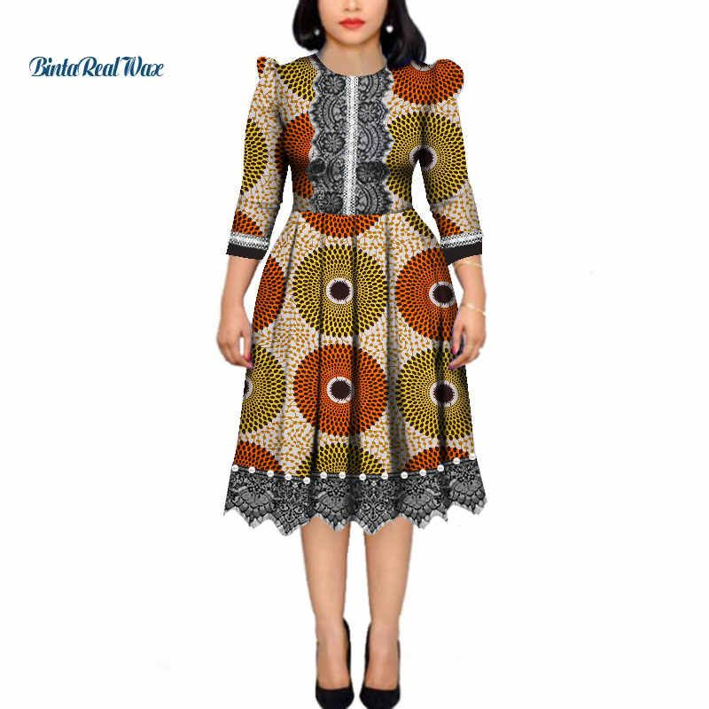 African Dresses for Women Pearls Bazin Riche Wax Print Patchwork Dresses Dashiki African Style Long Sleeve Dresses WY4339| | - AliExpress