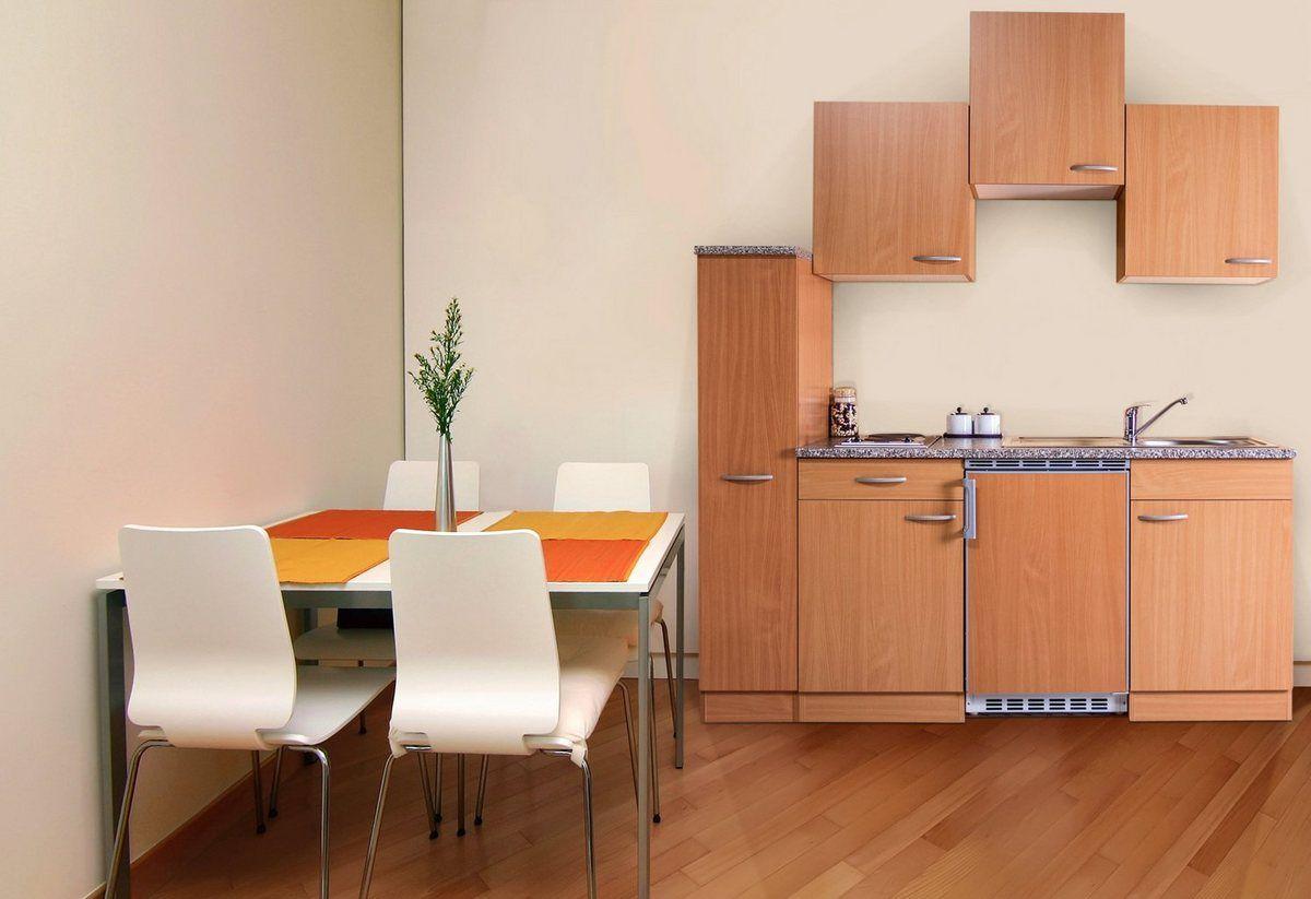 Minikuche Breite 180 Cm Mit Pflegeleichter Kunststoffoberflache Online Kaufen Kleiner Kuchentisch Kuche Block Und Kuchentisch Rund