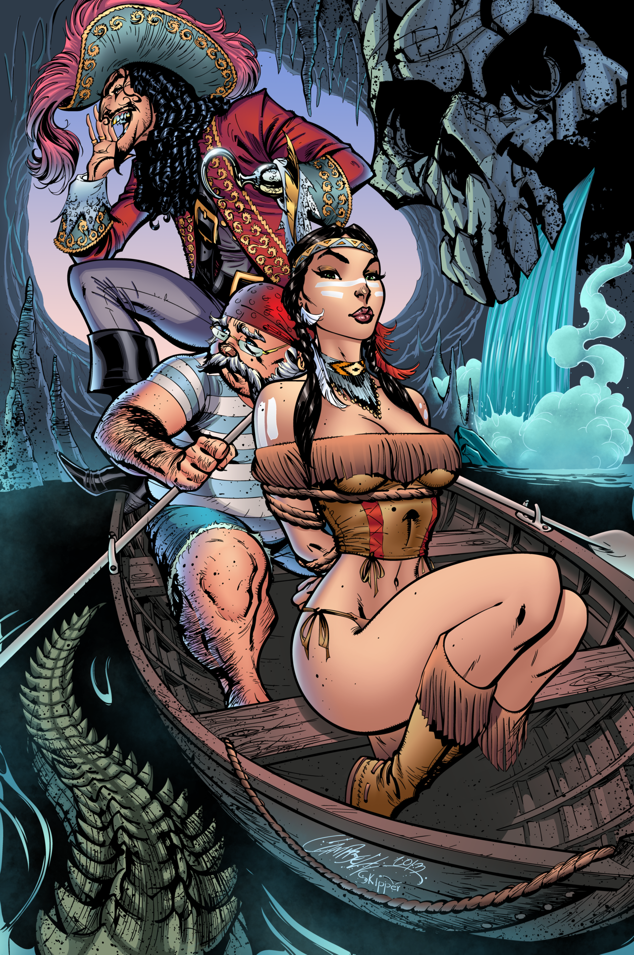 Come and get her, Peter Pan! - pencils by J. Scott Campbell, inks & colors by J-Skipper