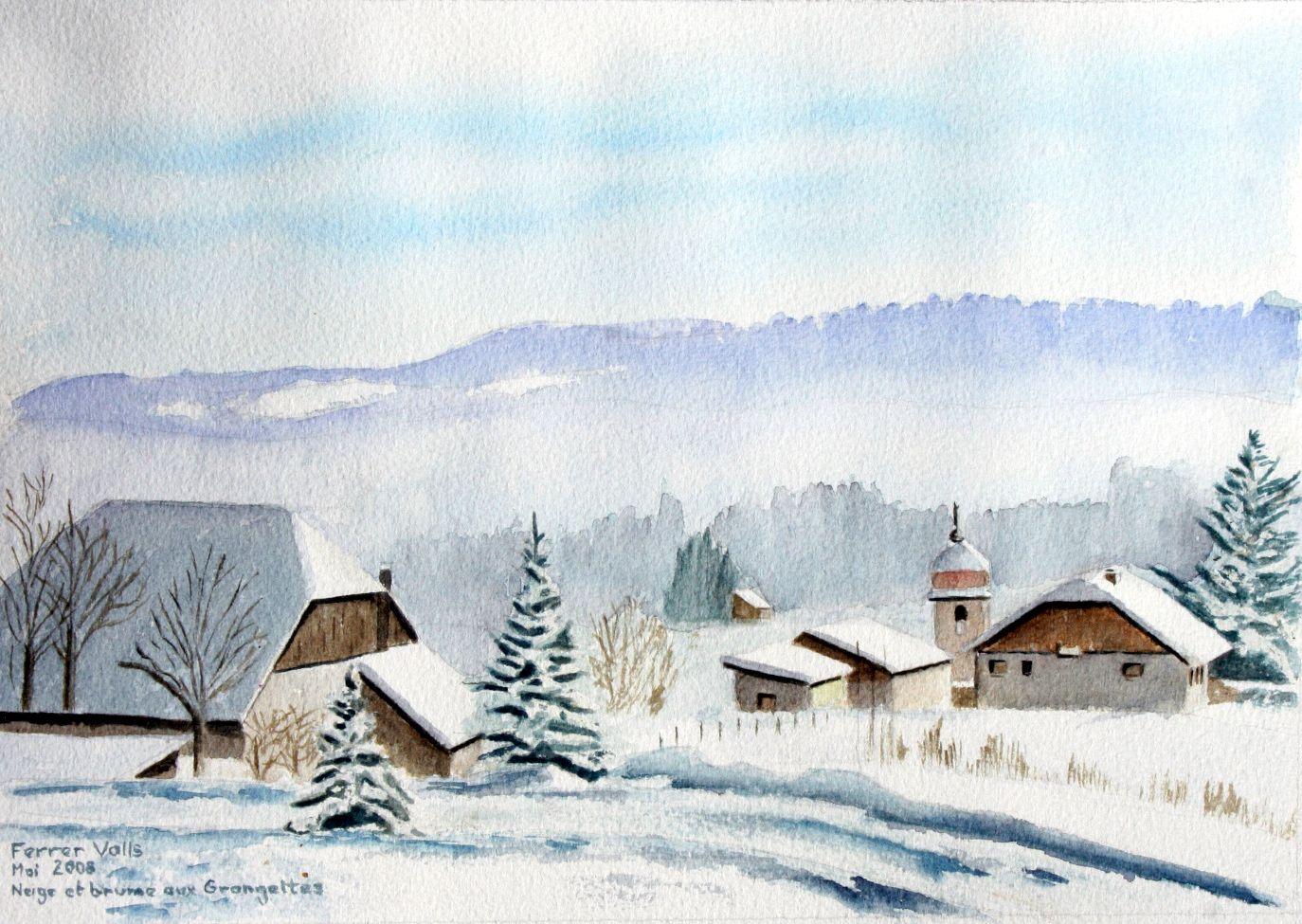 Paysages De Neige Du Doubs Paysage De Neige Art Du Paysage Et