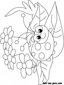 Print Out Happy Face Ladybug Coloring Page Printable Coloring