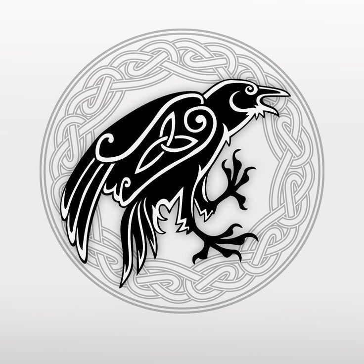 Dotwork Raven Crow Viking Crow Tattoo Celtic Crow By Poietix On