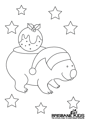 Christmas Colouring Sheets Themed With Australian Animals Brisbane Kids Christmas Coloring Pages Christmas Paintings On Canvas Christmas Colors