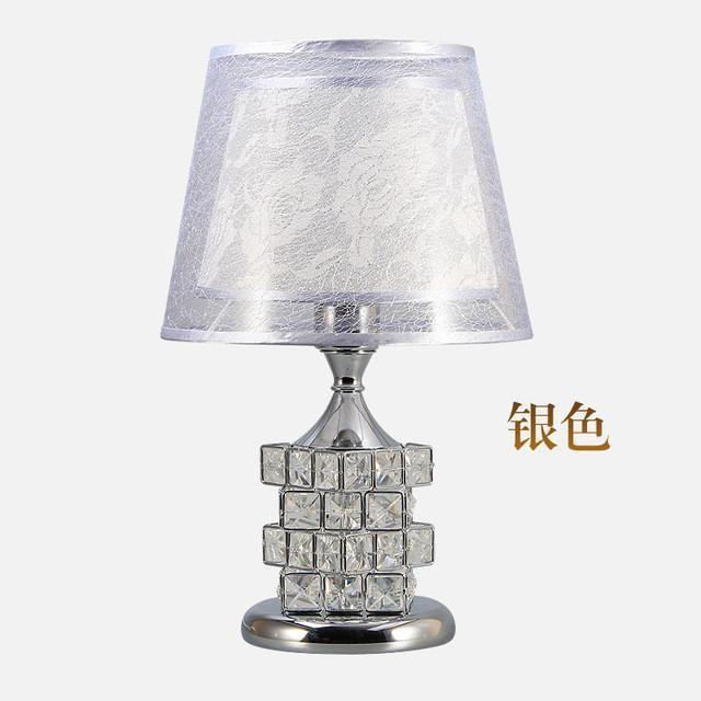 Led Crystal Table Lamp For Bedroom Bedside Lamp Mood Light Lampshade Desk  Light Led Decor Home