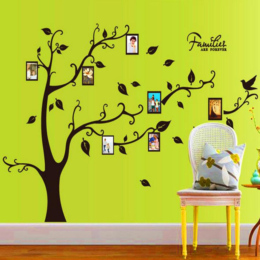 3D DIY Photo Tree PVC Wall Decals/Adhesive Family Wall Stickers ...