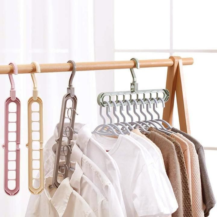 Clothes Hanger Closet Organizer In 2020 Space Saving Hangers Folding Hanger Hanger