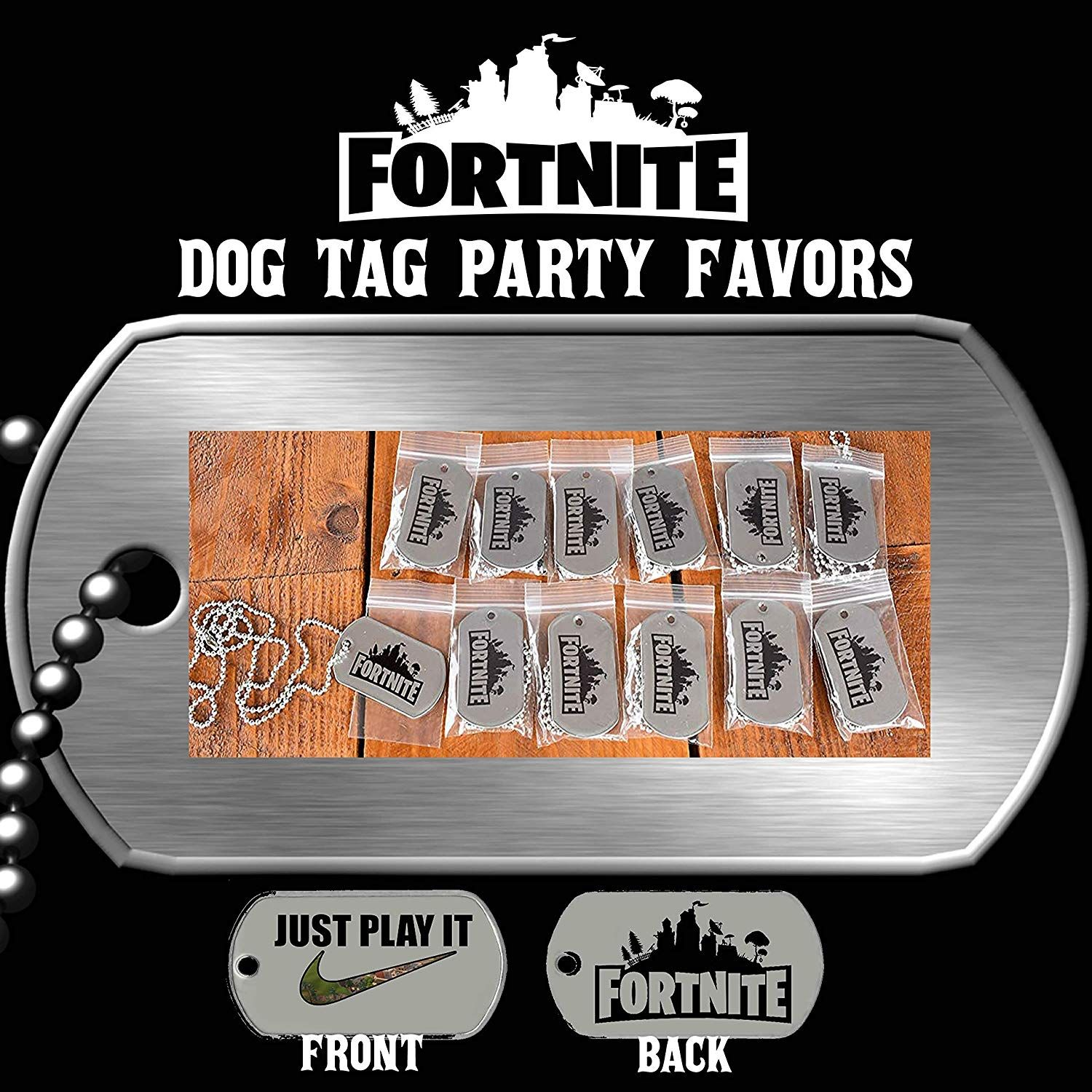 Fortnite Dog Tag Party Favors Fortnite Birthday Party Favor Fortnite Birthday Party Fortnite Birthday Party Favors Shopkins Party Decorations Shopkins Party