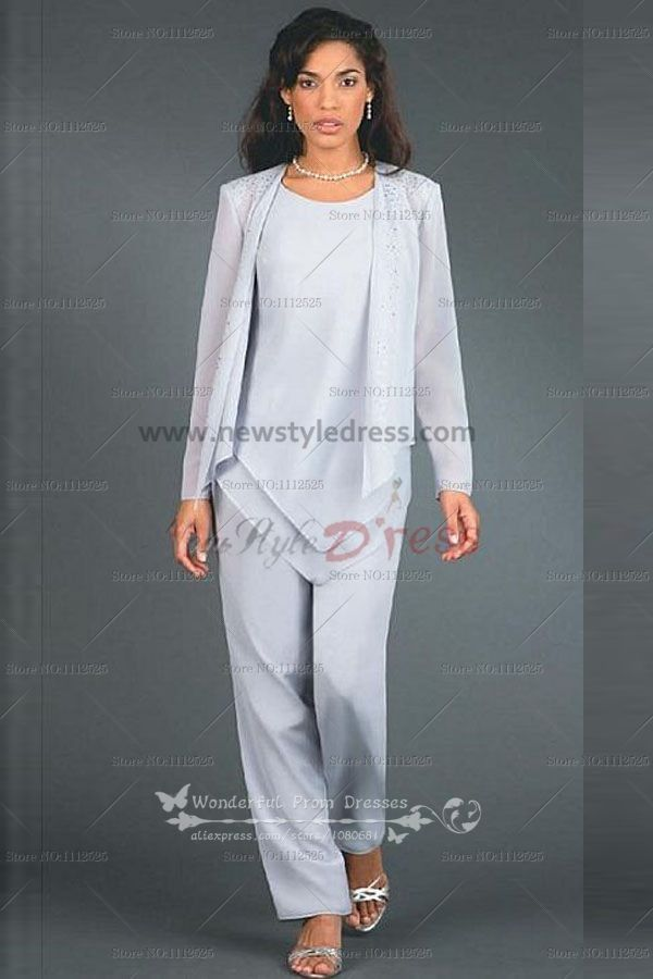 Hand Beading Elegant Elastic pants Mother of the bride pants suit ...
