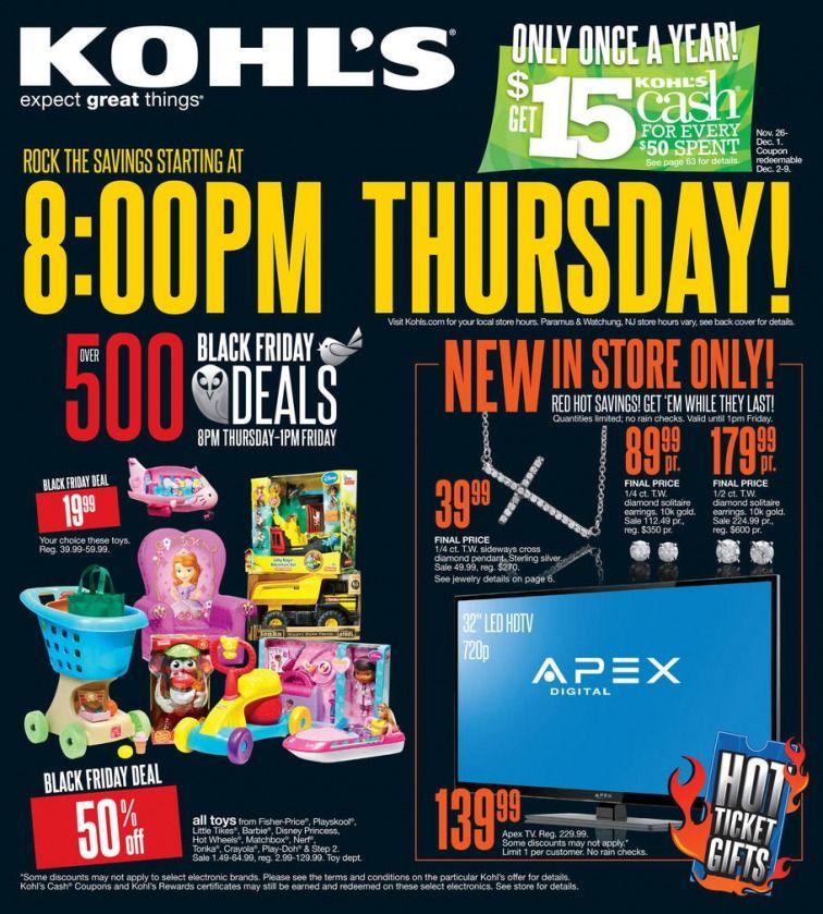 2c22c67b96d Kohl's Black Friday Ad | Black Friday Deals | Kohls black friday ...