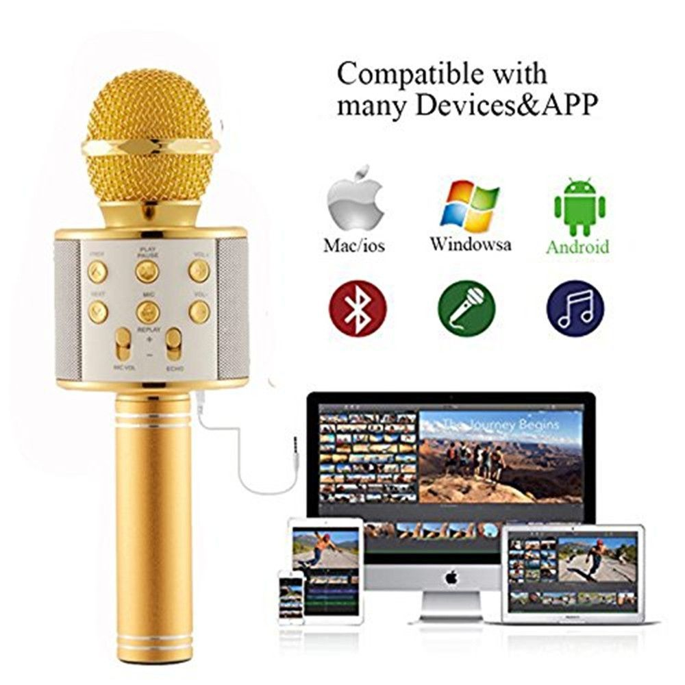 Wireless Microphone Karaoke Player Machine with Bluetooth
