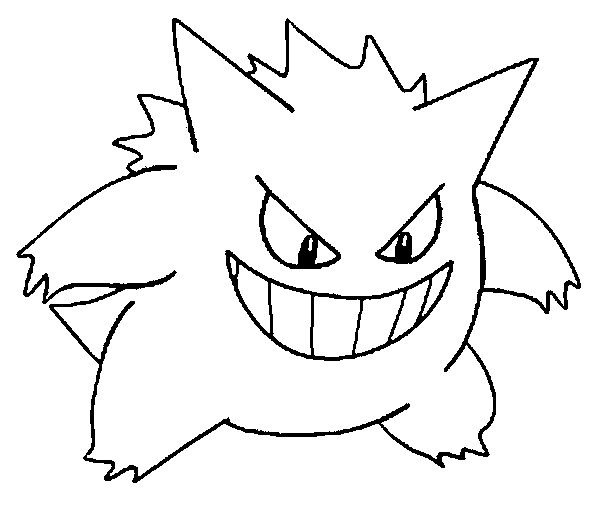 gastly haunter and gengar pokemon coloring pages | gengar - Google Search | bday ideas #8 Pokemon | Pokemon ...