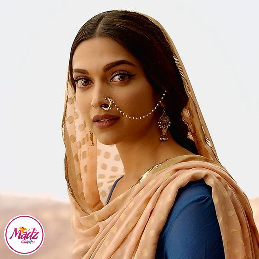 Madz Fashionz USA: Deepika Padukone Pearl Nose Rings Nath Indian ...