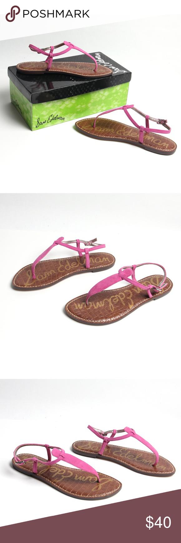 dcc57275f9f527 NIB - Sam Edelman - Gigi Pink Suede Thong Sandals Pink Suede Gigi Thong  sandals by