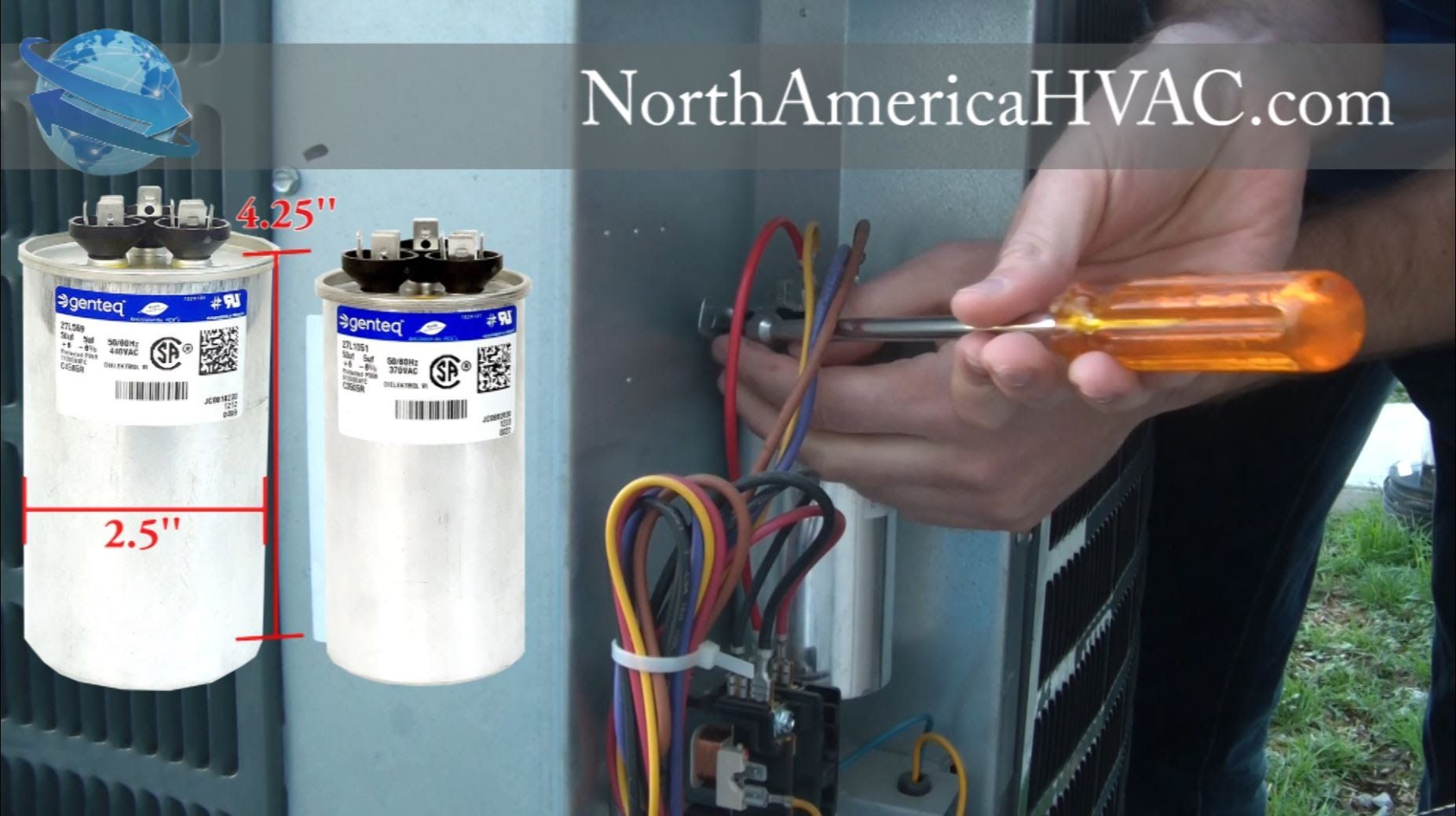How to replace a Capacitor HVAC A/C Capacitor *MUST