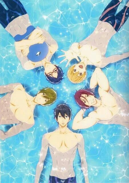 Haru, Rin, Nagisa, Rei, and Mako (Free! - Iwatobi Swim Club)