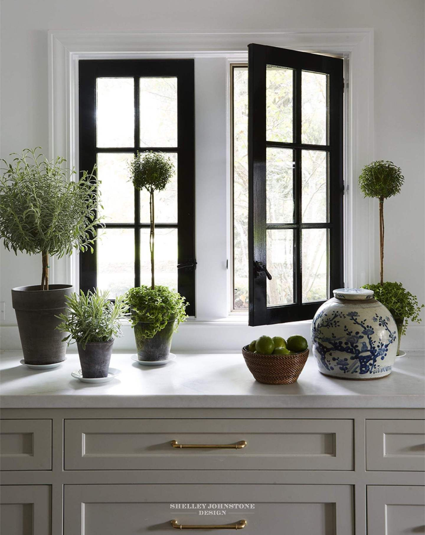 Get The Look Four High End Designs By Shelley Johnstone Black Window Frames Home Remodeling