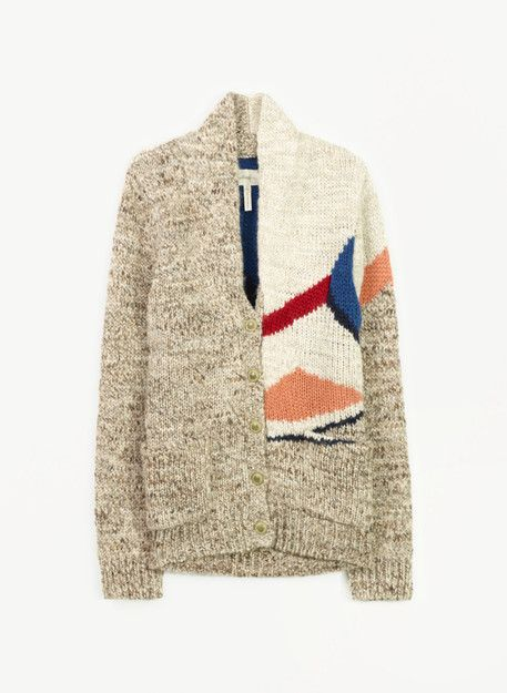 I want to wear this sweater in the winter in my home office with the same color scheme.