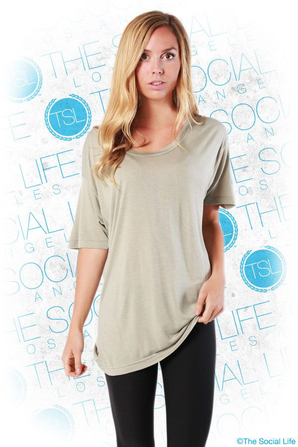 American Apparel - Oversized Viscose Tee  Ultra-light oversized T-shirt made with Viscose, a rayon material that has a silky appearance and feel.