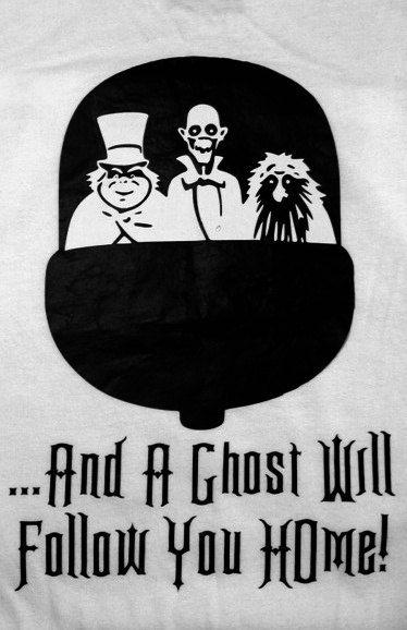 Disney Haunted Mansion Hitchhiking Ghosts Shirt! Glows in
