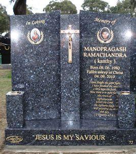 Memorial Headstones Gravestones Melbourne Headstones Blue Pearl Granite Blue Pearl