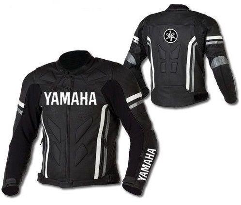 Yamaha Motorcycle Jackets Black Yamaha Biker Jacket Mens Biker