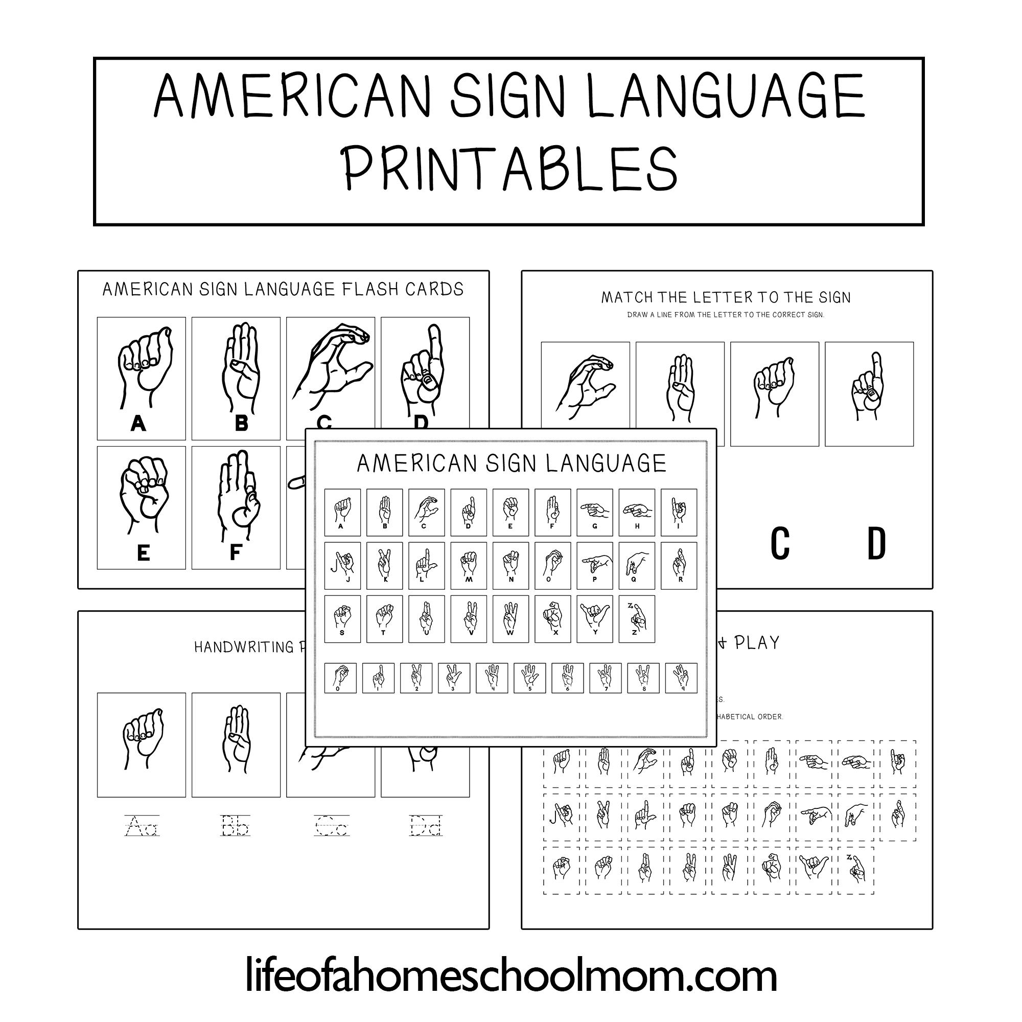 American Sign Language Study Pack Asl