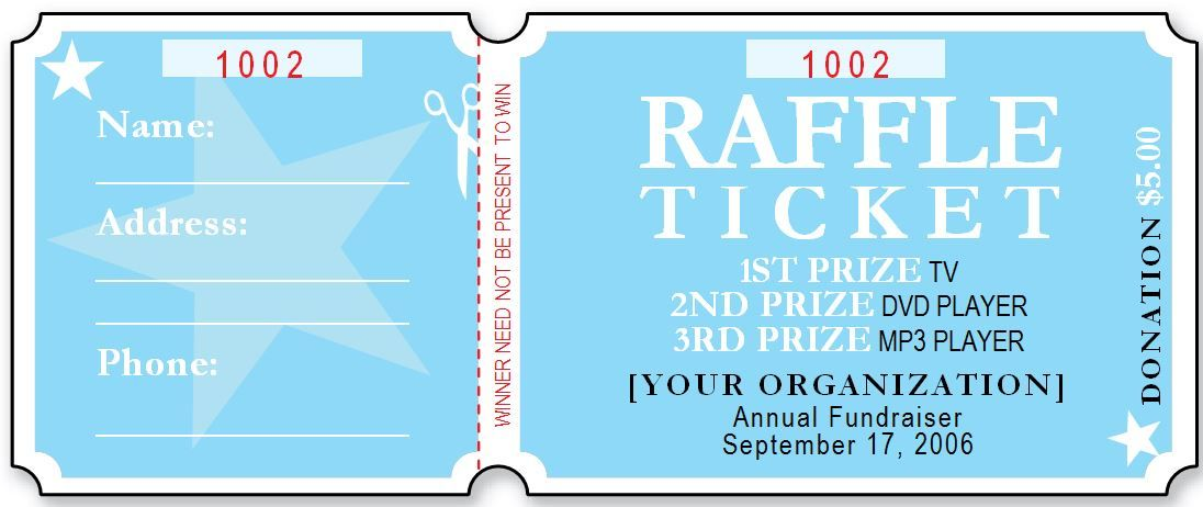 sample raffle ticket template