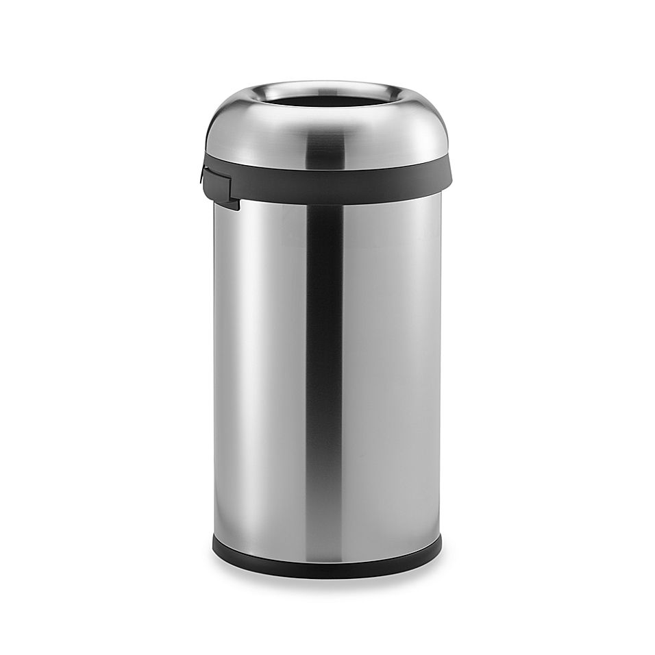 Best Simplehuman Brushed Stainless Steel Bullet Open 60 Liter 400 x 300