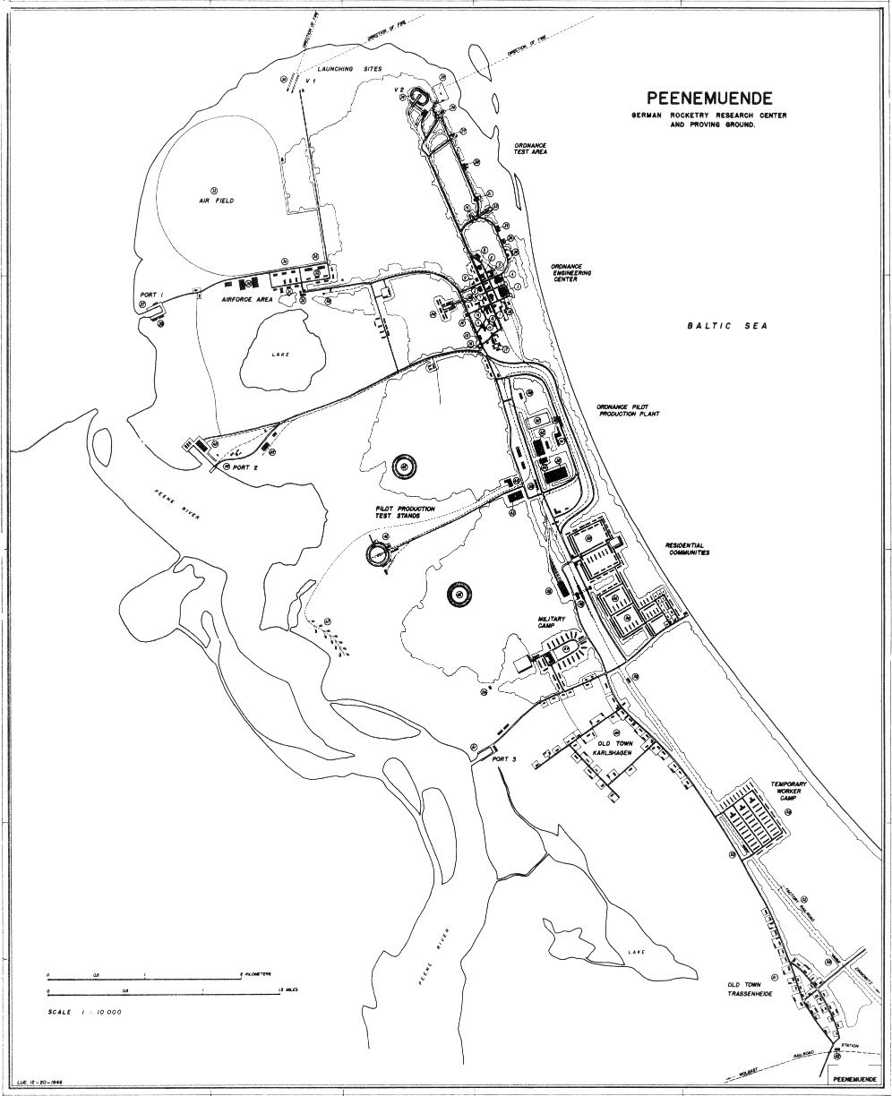 Map Of Peenemunde German Rocketry Research Center And Proving - Germany map test