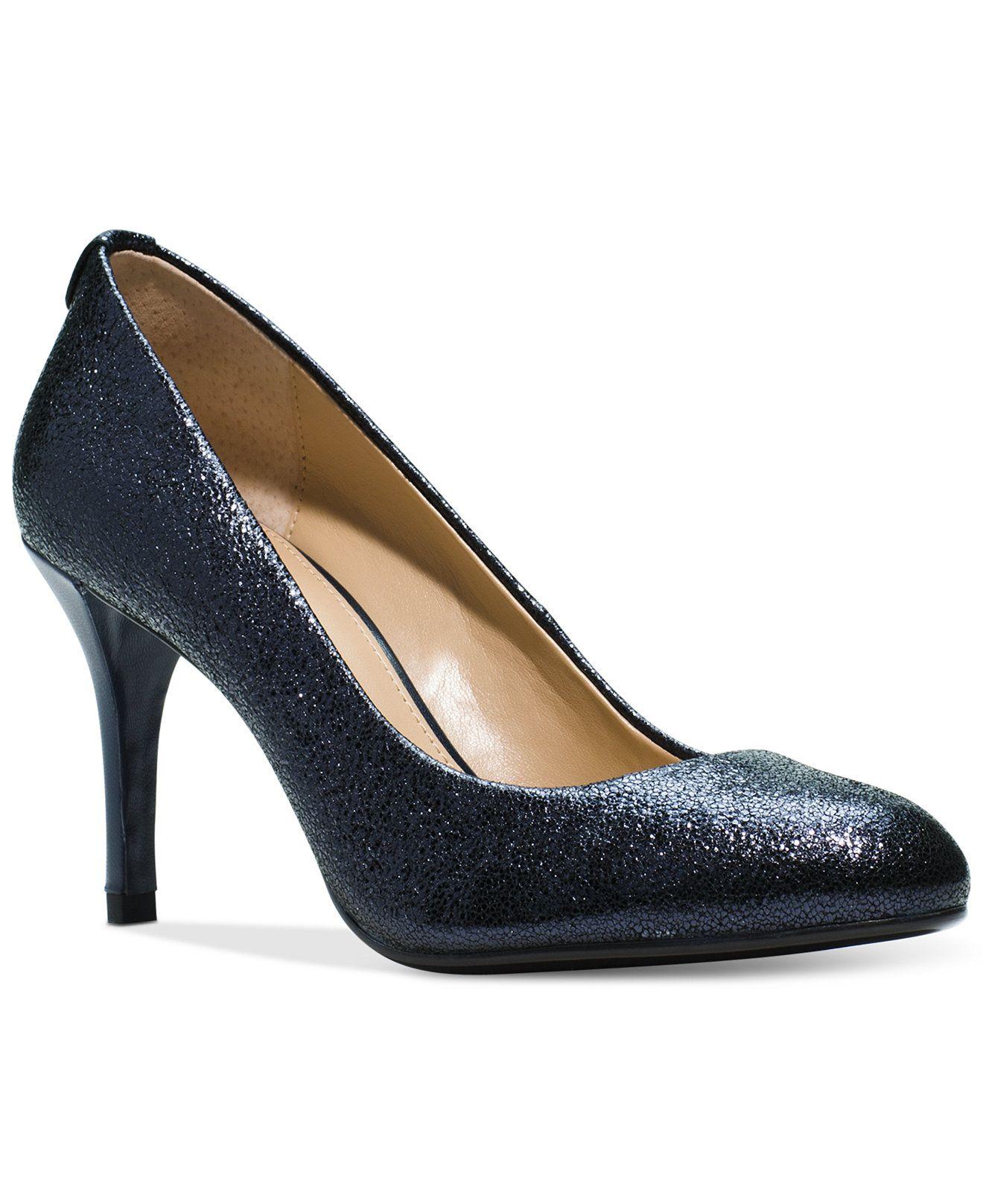 MICHAEL Michael Kors MK Flex Mid Almond-Toe Pumps - Pumps - Shoes - Macy's