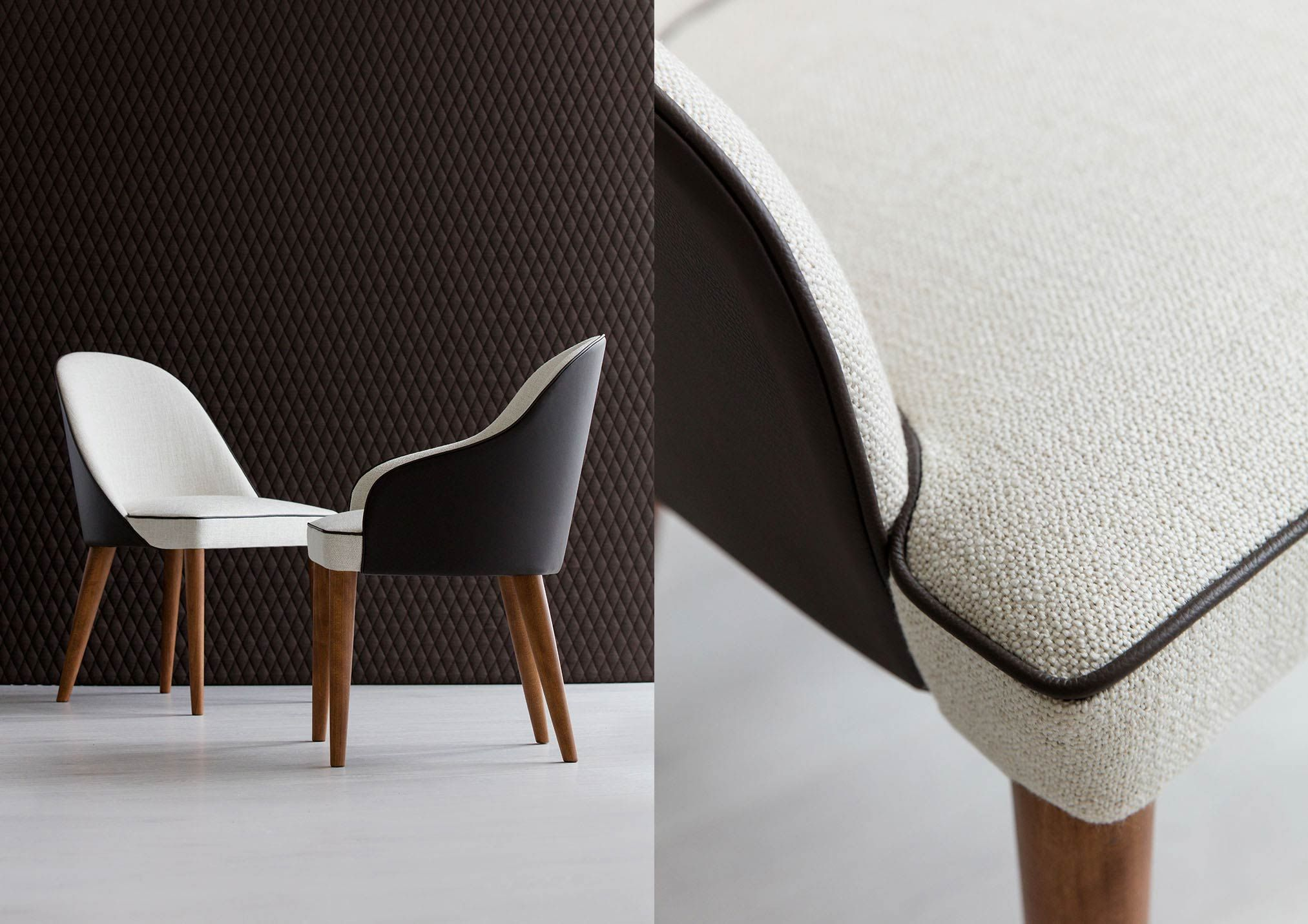Dining Room Judy Chair In Fabric And Leather Fromitalywithlove