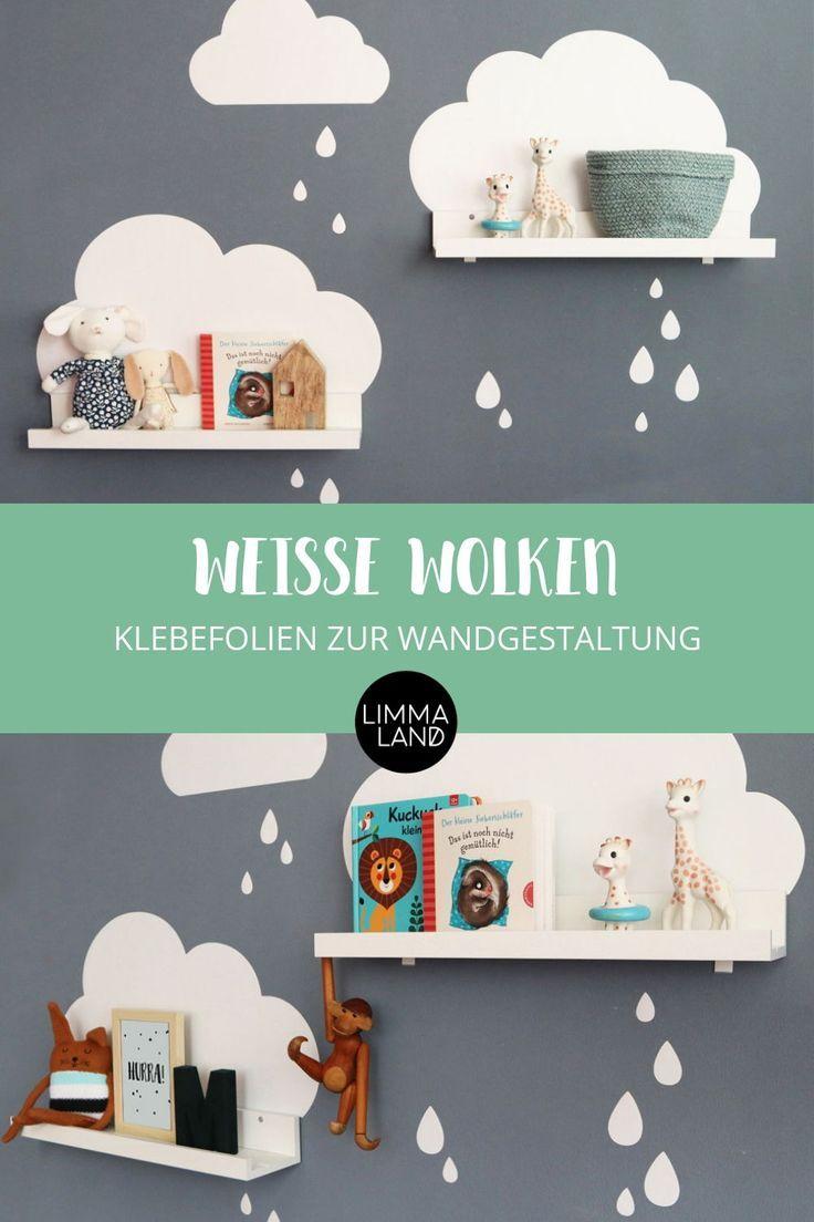 Wolken Wandtattoo für IKEA Bilderleiste - Weiss