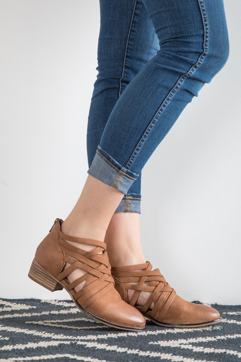 c3aabed3aa Seychelles  The So Blue Cutout Bootie in Caramel
