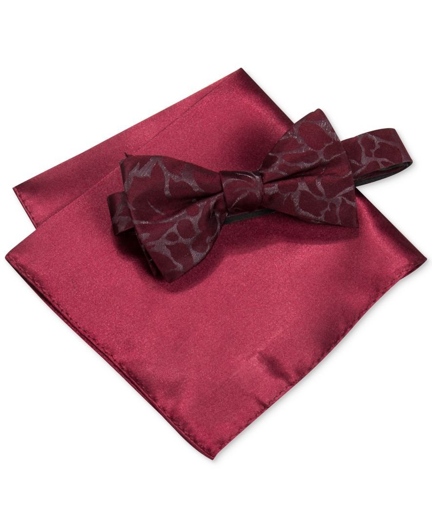 e47540c29870 Alfani Men's Walsh Abstract Bow Tie & Pocket Square Set, Only at Macy's
