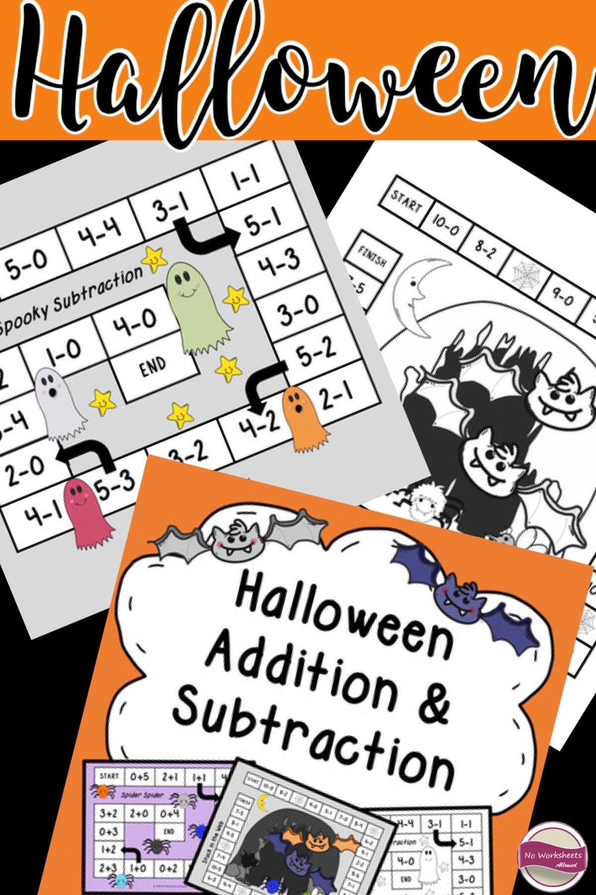Halloween Addition And Subtraction Games