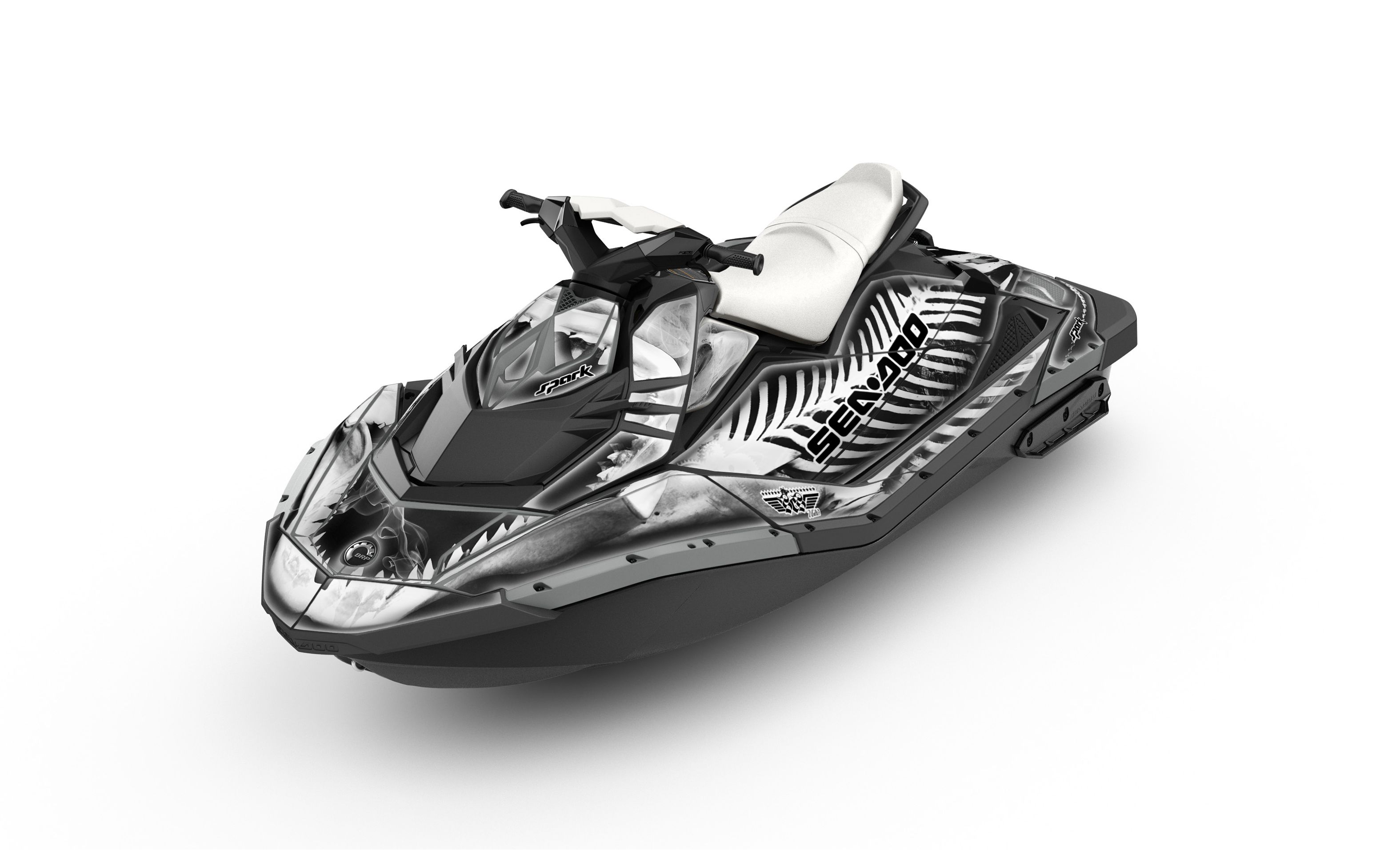 2014 Sea-Doo Spark with X-ray Gray wrap. www.sea-