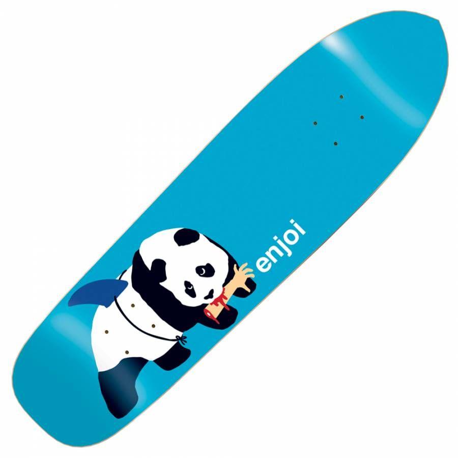 Enjoi Panda Shark Punk Point Skateboard Deck 8 5 Skateboard Skateboard Decks Skateboard Art